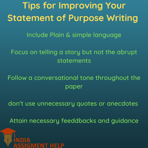 tips for improving your statement of purpose writing