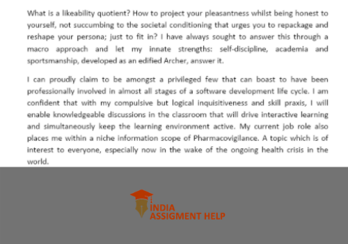 admission essay 2