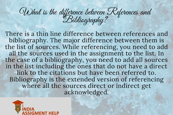 difference between references and bibliography