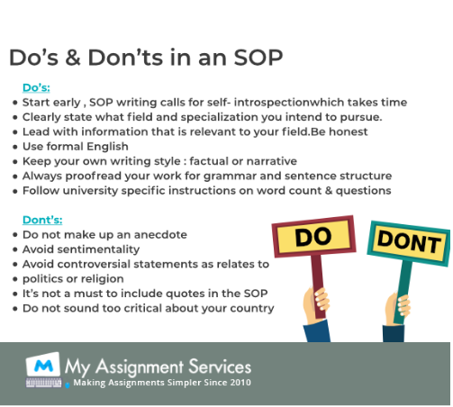 do and dont an SOP