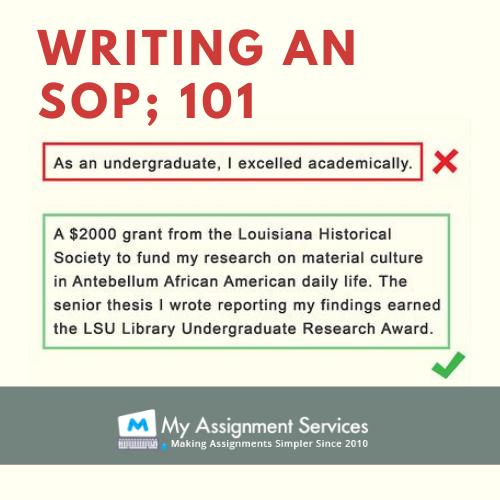 writing an SOP