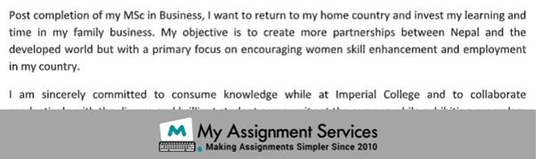 Statement of purpose Sample5