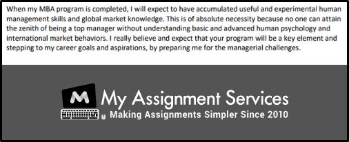 MBA admission SOP sample online