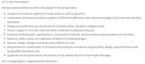 Sample CDR (Sample Career Episode for Civil Engineer)