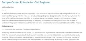 Sample of Career Episodes (CDR Sample)