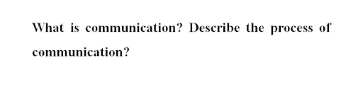 communication assignment question