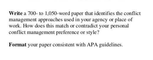conflict management assignment sample