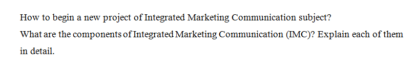 Integrated Marketing Communication assignment sample