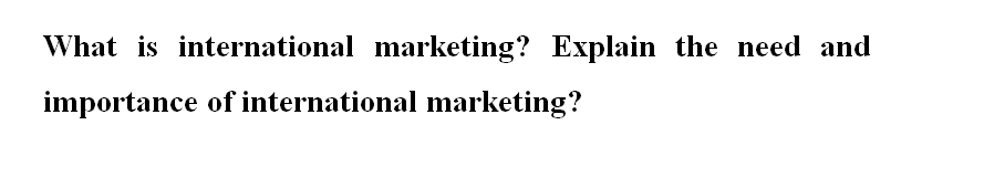 international marketing assignment sample question