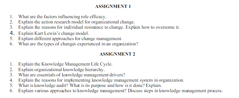 knowledge management assignment sample