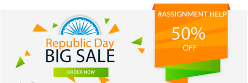 Republic Day Sale, avail Upto 50% Discount On Every Assignment Order!